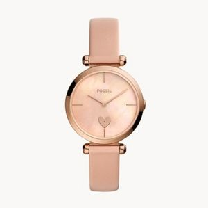 🌼 NWT Fossil blush leather watch